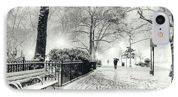 Winter Night - Snow - Madison Square Park - New York City IPhone Case by Vivienne Gucwa