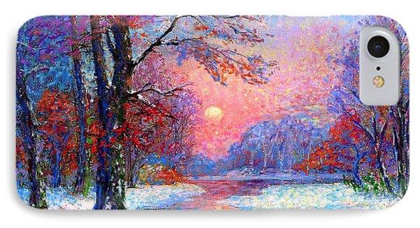 Winter Nightfall, Snow Scene  IPhone 7 Case