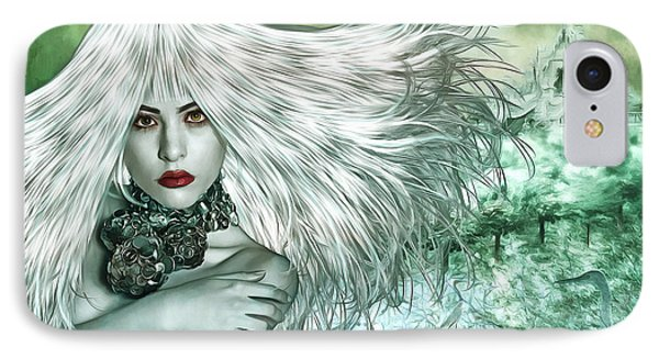 IPhone Case featuring the digital art Winter by Nola Lee Kelsey