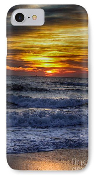 Winter North Carolina Sunrise IPhone Case by Tony Cooper