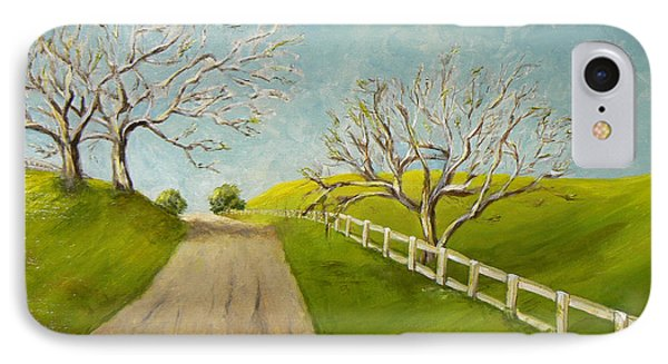 IPhone Case featuring the painting Winter Oaks by Terry Taylor