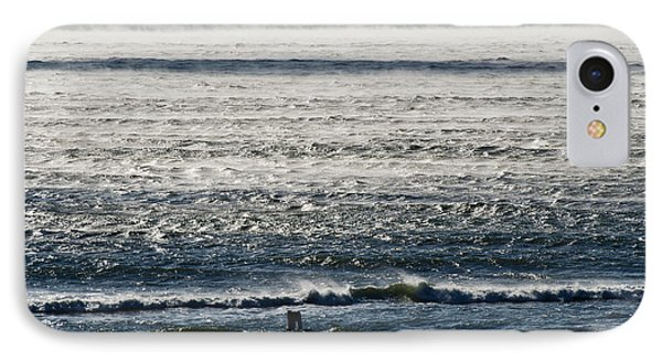 Winter Ocean Rockaway Beach IPhone Case by Maureen E Ritter