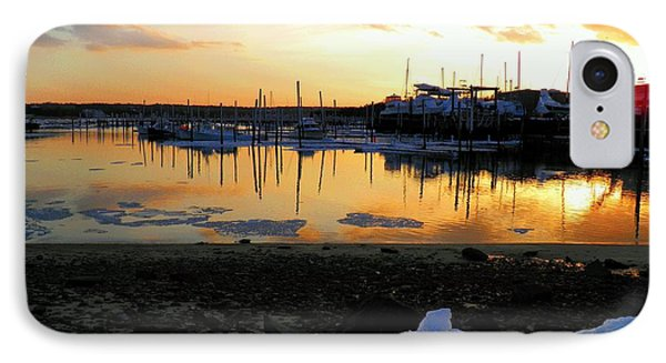 IPhone Case featuring the photograph Winter On Sesuit Harbor by Amazing Jules