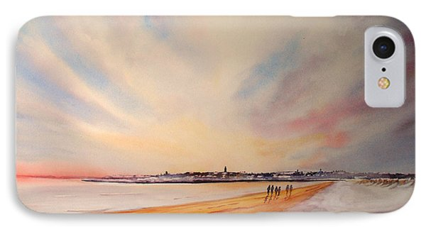 IPhone Case featuring the painting Winter On St Andrews Scotland by Beatrice Cloake