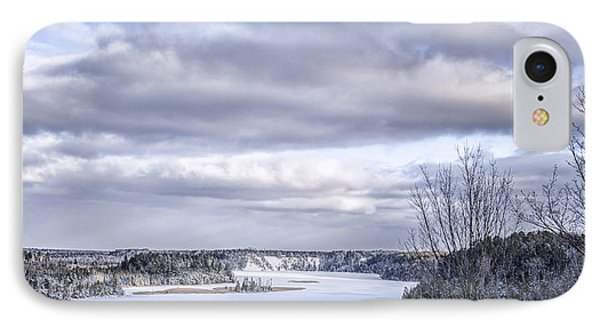 Winter On The Ausable River IPhone Case