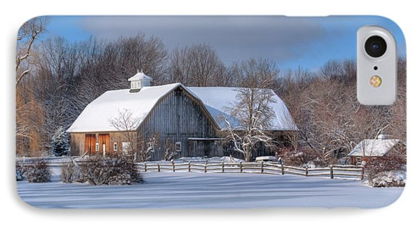 IPhone Case featuring the photograph Winter On The Farm 14586 by Guy Whiteley