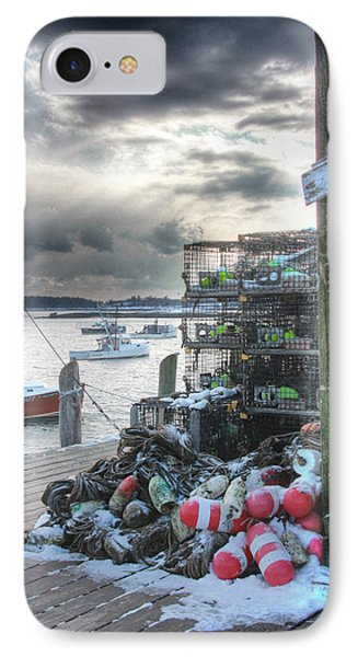 Winter On The Lobster Wharf IPhone Case