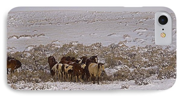 IPhone Case featuring the photograph Winter On The Mccullough Range  16x52 by J L Woody Wooden