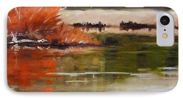 Winter On The River IPhone Case by Nancy Merkle