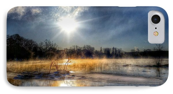 Winter On The Wisconsin River IPhone Case by Brook Burling
