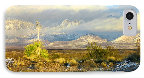 Winter In The Organ Mountains IPhone Case