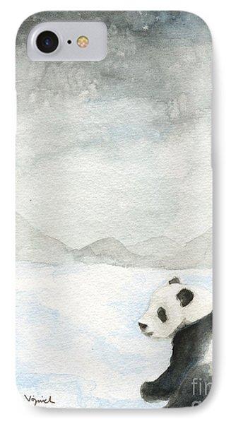 Winter Panda IPhone Case by Erica Vojnich