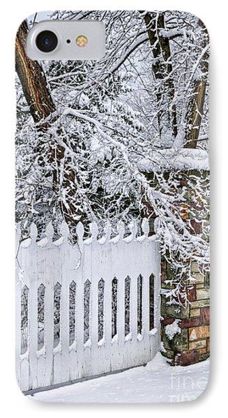 Winter Park Fence Phone Case by Elena Elisseeva