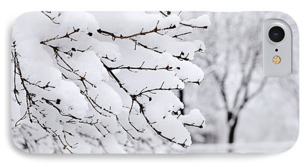 Winter Park Under Heavy Snow Phone Case by Elena Elisseeva