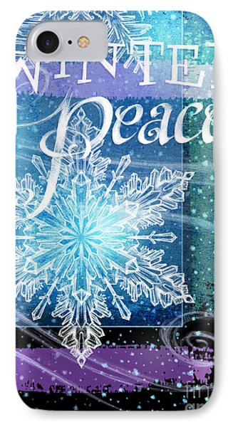 Winter Peace Greeting IPhone Case