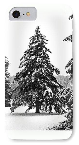 Winter Pines Phone Case by Ann Horn