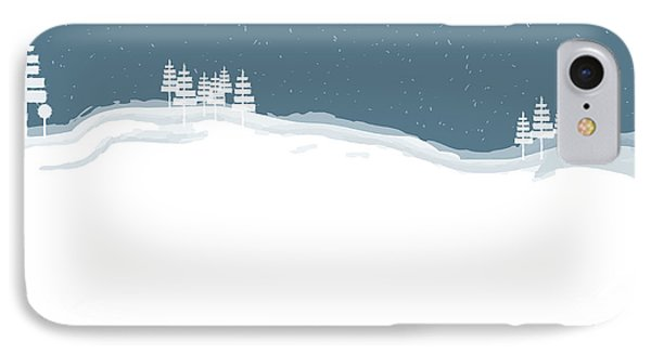Winter Pines IPhone Case by Kevin McLaughlin