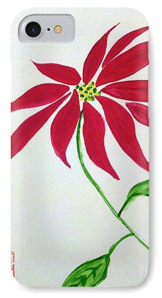 Winter Poinsettia IPhone Case