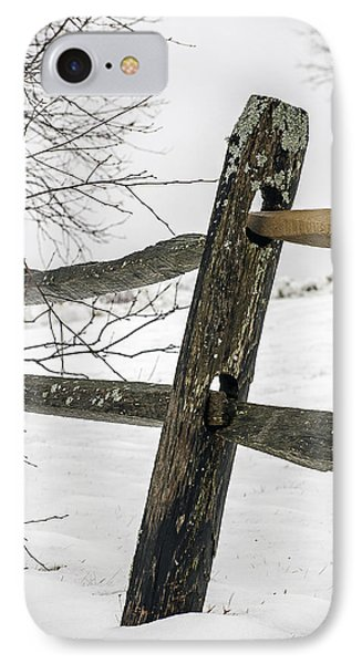Winter Rail Fence IPhone Case