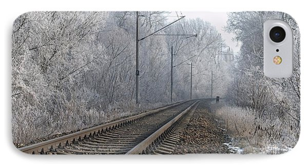 Winter Railroad IPhone Case by Martin Capek