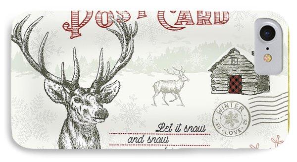Winter Reindeer I IPhone Case