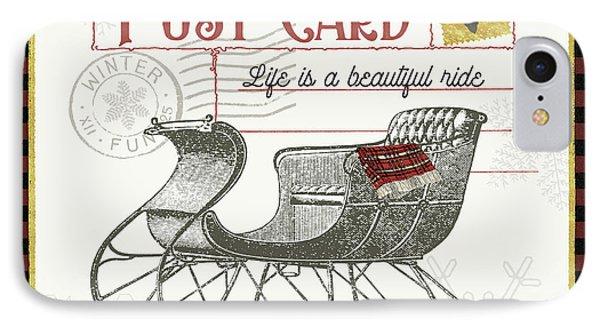 Winter Reindeer IIi IPhone Case by Sue Schlabach