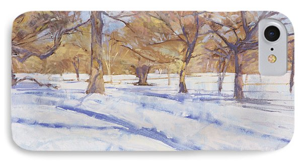 Winter, Richmond Park IPhone Case by Christopher Glanville