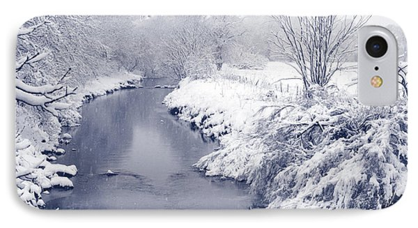 IPhone Case featuring the photograph Winter River by Liz Leyden
