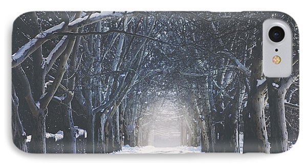 Winter Road IPhone Case by Carrie Ann Grippo-Pike