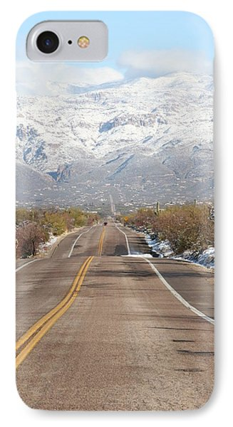 Winter Road IPhone Case by David S Reynolds