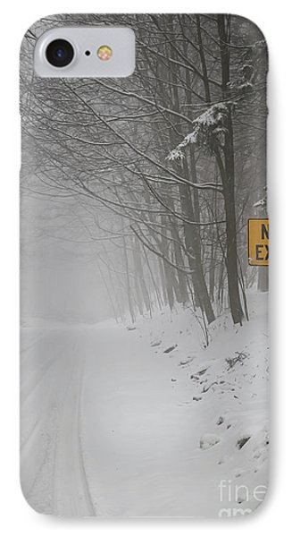 Winter Road During Snowfall I IPhone Case by Elena Elisseeva