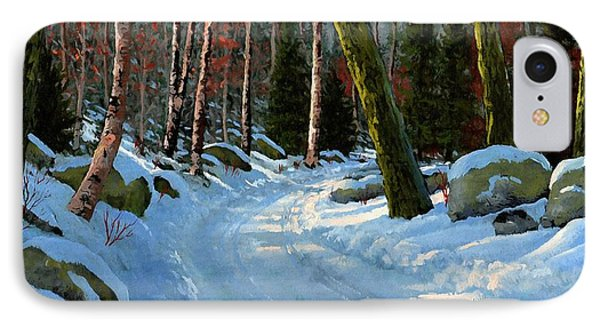 Winter Road IPhone Case by Frank Wilson