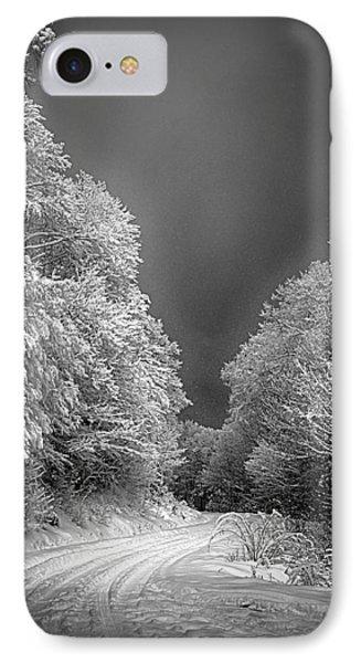 Winter Road Phone Case by John Haldane