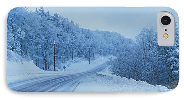 Winter Road Nh Usa IPhone Case by Panoramic Images