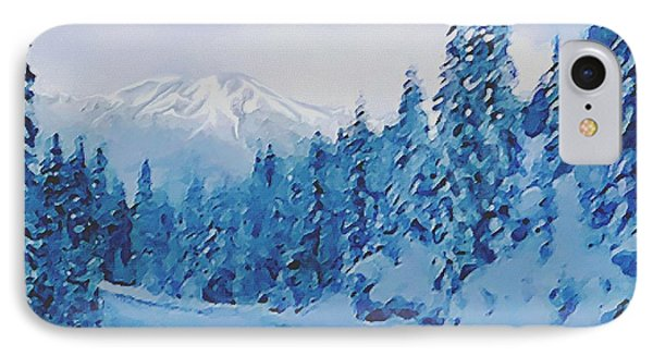 IPhone Case featuring the painting Winter Road by Sophia Schmierer