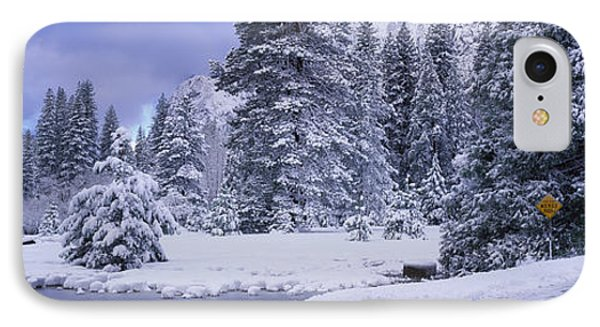 Winter Road, Yosemite Park, California IPhone Case by Panoramic Images