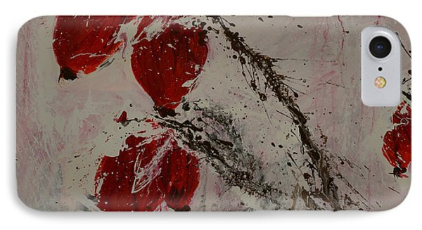 Winter Rose Hip- Abstract Phone Case by Ismeta Gruenwald