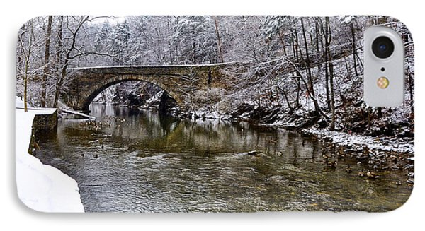 Winter Scene At Valley Green Phone Case by Bill Cannon