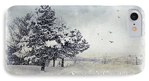 Winter Scene Greeting Card IPhone Case by Julie Palencia
