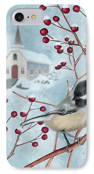 Winter Scene I IPhone Case by April Moen