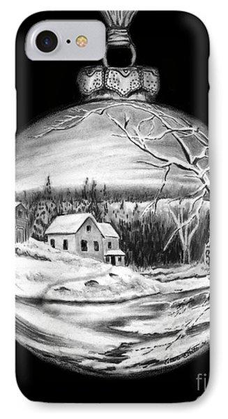 Winter Scene Ornament Phone Case by Peter Piatt