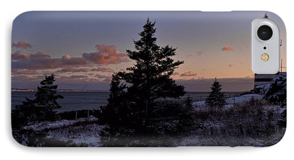 Winter Sentinel Lighthouse IPhone Case by Marty Saccone