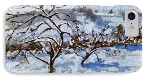 Winter Shadows IPhone Case by Elizabeth Coats