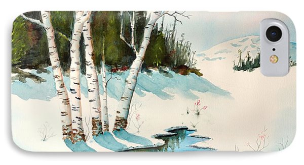 Winter Shadows IPhone Case by Pattie Calfy