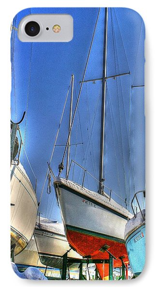Winter Shipyard IPhone Case