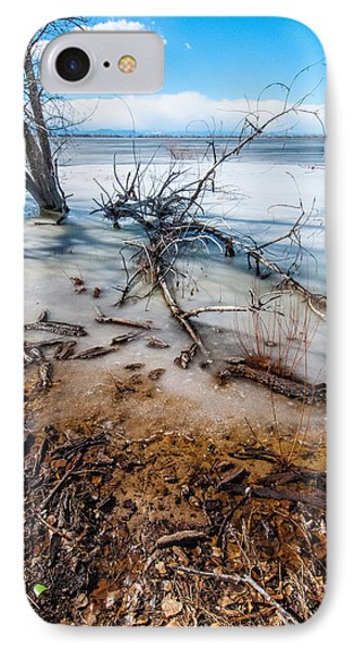 IPhone Case featuring the photograph Winter Shore At Barr Lake_2 by Tom Potter