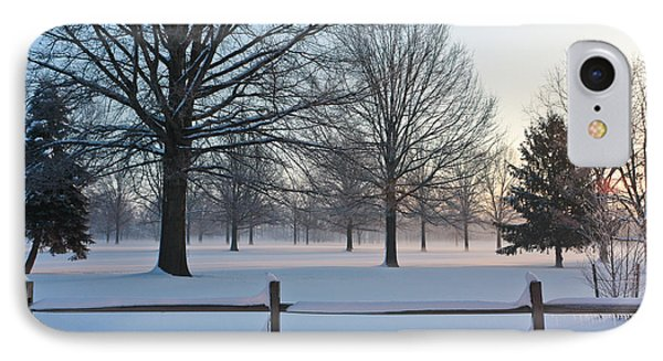 IPhone Case featuring the photograph Winter Snow And Shadows by Ann Murphy
