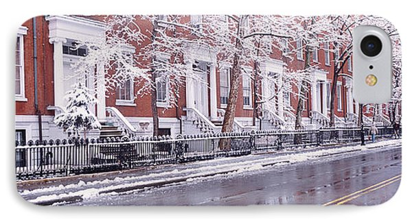 Winter, Snow In Washington Square, Nyc IPhone Case by Panoramic Images