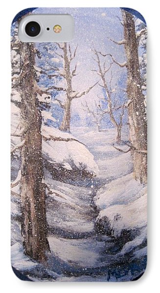 IPhone Case featuring the painting Winter Snow by Megan Walsh