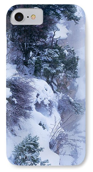 Winter Snow Storm Grand Canyon Rim IPhone Case by Panoramic Images